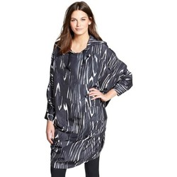 Clothing Women Tunics adidas Originals Run Print Parka Graphite-White-Black