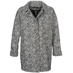 Clothing Women coats Kookaï SARAH Black / White
