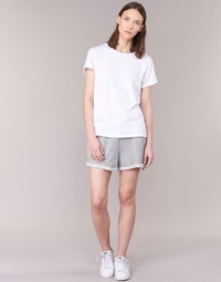 Clothing Women Shorts / Bermudas Yurban  Grey / White