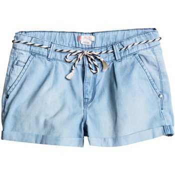 Roxy  Just A Habit  Pantalones Cortos Vaqueros  girlss Childrens Cropped trousers in Blue