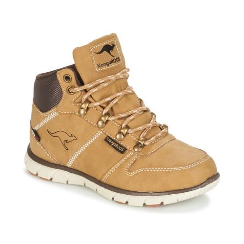 Shoes Boy Mid boots Kangaroos BLUERUN 2098 HONEY