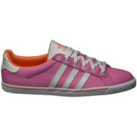 Shoes Women Low top trainers adidas Originals Court Star Slim W Pink-White