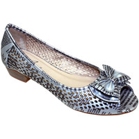 Shoes Women Flat shoes Lunar Ladies Lawson Perforated Pump Silver