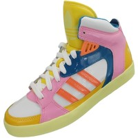 Shoes Women Hi top trainers adidas Originals Amberlight W Blue-Pink-White