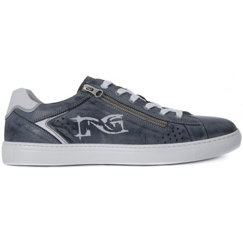 Shoes Men Low top trainers Nero Giardini NERO GIARDINI BRANON JEANS Blu