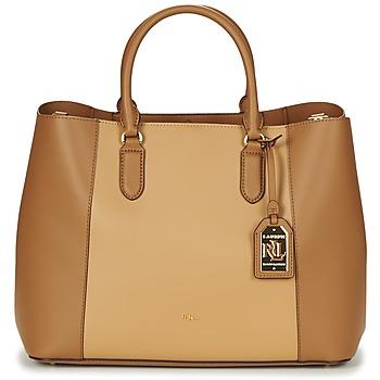 Bags Women Handbags Ralph Lauren DRYDEN MARCY TOTE COGNAC / CAMEL
