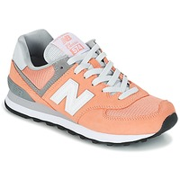 Shoes Women Low top trainers New Balance WL574 Peach