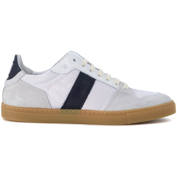 Shoes Men Trainers Ami Alexandre Matiussi AMI Alexandre Mattiussi white and blue fabric sneaker Blue