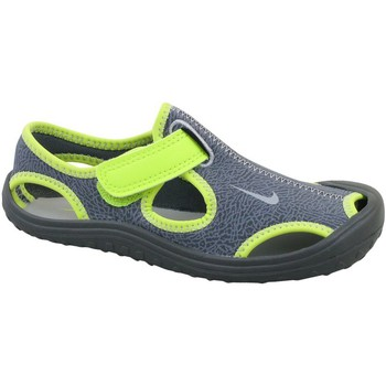 Shoes Children Sandals Nike Sunray Protect TD Green-Grey