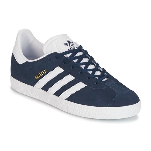 Shoes Boy Low top trainers adidas Originals GAZELLE J Marine