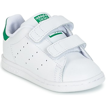 Shoes Boy Low top trainers adidas Originals STAN SMITH CF I White / Green