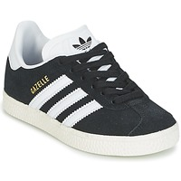 Shoes Boy Low top trainers adidas Originals GAZELLE C Black