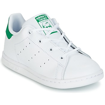 Shoes Children Low top trainers adidas Originals STAN SMITH I White / Green