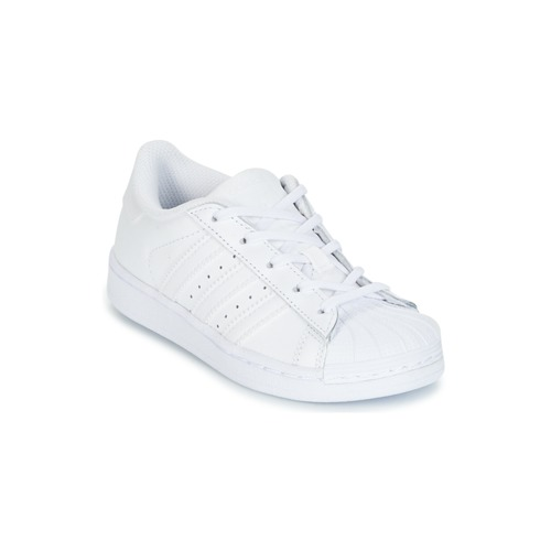 Shoes Girl Low top trainers adidas Originals SUPERTSAR White