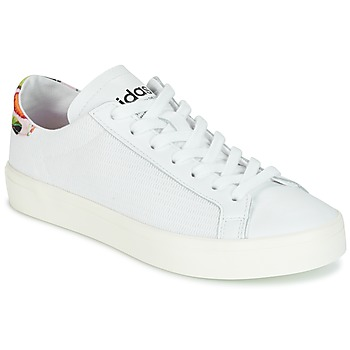 Shoes Women Low top trainers adidas Originals Court Vantage White / Flowers