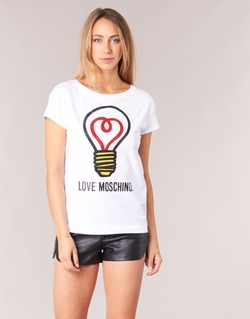 Clothing Women short-sleeved t-shirts Love Moschino W4F3038E1512 White