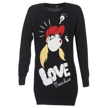 Clothing Women Short Dresses Love Moschino WS45S01X0608 Black
