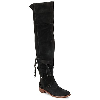 Shoes Women Thigh boots See by Chloé FLIROL Black
