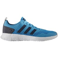Shoes Men Low top trainers adidas Originals Cloudfoam Lite Flex Solbluconavyftwwht Blue-White-Black