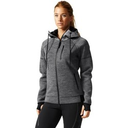 Clothing Women jumpers adidas Originals Standard 19 Daybreaker Hoody Grey-Silver