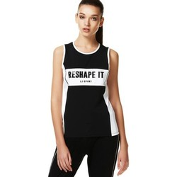 Clothing Women Tops / Sleeveless T-shirts Liu Jo T17117J7912 Canotta Women Black Black