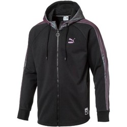 Clothing Men Jackets / Cardigans Puma 572426 Sweatshirt Man Black Black