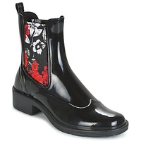 Shoes Women Mid boots Desigual MID RAIN BOOT BN&RED Black