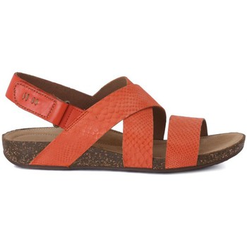 Shoes Women Sandals Clarks Perri Dunes Grenadine Honey-Red