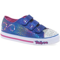 Shoes Girl Low top trainers Skechers Twinkle Toes Step Up Girls Canvas Shoes blue