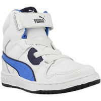 Shoes Children Hi top trainers Puma Rebound White-Blue