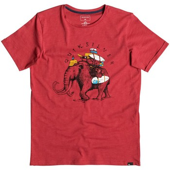 Clothing Boy short-sleeved t-shirts Quiksilver Slub Momoth - Camiseta ROJO