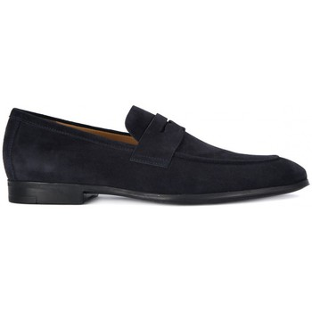 Shoes Men Loafers Frau SUEDE BLU Blu