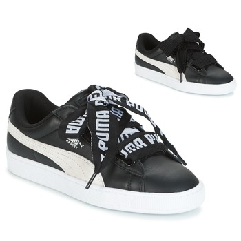 Shoes Women Low top trainers Puma Basket Heart DE Black / White