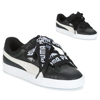 Shoes Women Low top trainers Puma Basket Heart DE Black / White