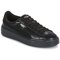 Shoes Women Low top trainers Puma Suede Platform Sintillant Black