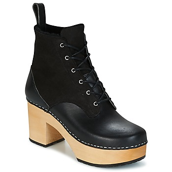 Shoes Women Ankle boots Swedish hasbeens HIPPIE LACE UP Black
