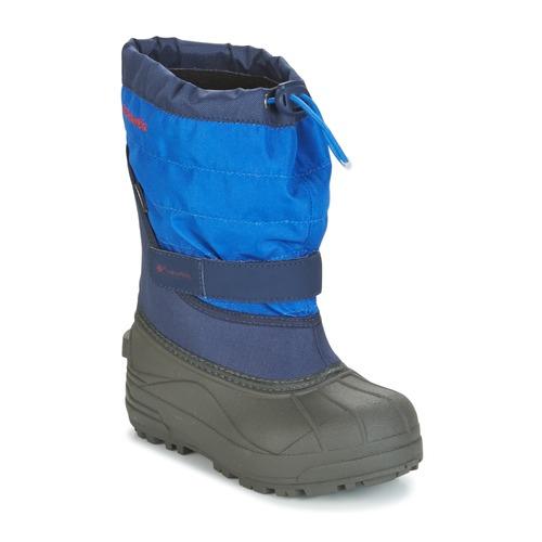 Shoes Children Snow boots Columbia YOUTH POWDERBUG™ PLUS II Marine