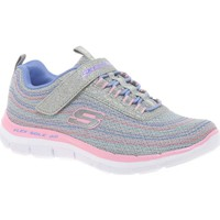 Shoes Girl Low top trainers Skechers Mini Metal Madness Velcro Girls Sports Shoes grey