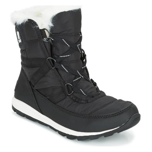 Shoes Women Snow boots Sorel WHITNEY SHORT LACE Black