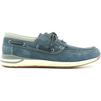 Shoes Men Loafers Lumberjack SM14704 001 P03 Mocassins Man Blue Blue