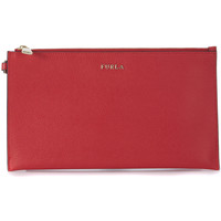 Bags Women Pouches / Clutches Furla Babylon ruby leather pochette Red