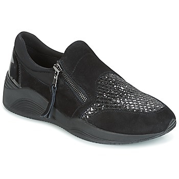 Shoes Women Low top trainers Geox D OMAYA Black