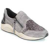 Shoes Women Low top trainers Geox D OMAYA Grey