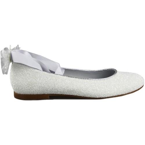 Shoes Girl Flat shoes Oca Loca OCA LOCA COMUNION CINTAS WHITE