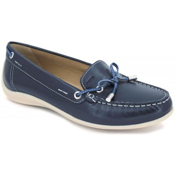 Shoes Women Boat shoes Geox Yuki D6455A blue