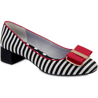 Shoes Women Heels Ruby Shoo Ruby Shoo Ladies June Low Heel Court Shoe Black/Red