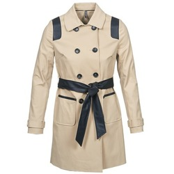 Clothing Women Trench coats Naf Naf BARTABA Beige / Black