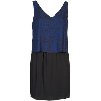 Clothing Women Short Dresses Naf Naf LORRICE Black / Blue