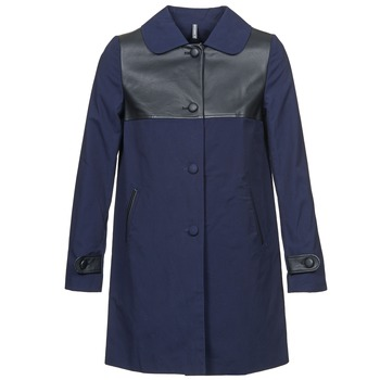 Clothing Women Coats Naf Naf BAUNS Marine
