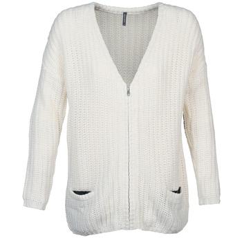Clothing Women Jackets / Cardigans Naf Naf MEDEN ECRU